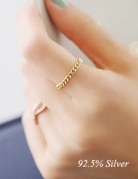 237723 - <RI331-JJ07> [Silver] chic chain Silver ring