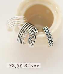 237759 - <RI333-S> [Immediate out of stock] [Silver] Silver binder ring