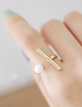 237780 - <RI339-IG11> stick & pearl ring