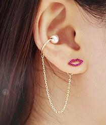 237860 - <ER592-DL03> [Cheongdam-dong Alice Seoyunju] [Silver Post] iolite lips earrings