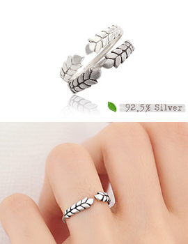 237866 - <RI344-JG05> [Silver] Laurel ring