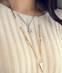 237888 - <NE167-S> two tone star long necklace