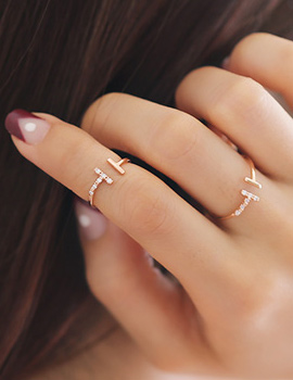 237925 - <RI348-JE23> [2Piece 1set] double stick ring