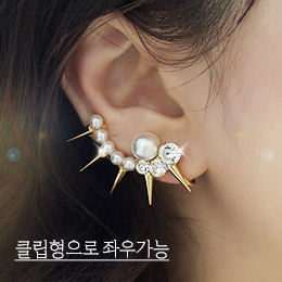 237946 - <EC105-CE05> [clip type] [left and right] stud & pearl ear cuff