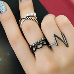 237947 - <RI350-S> [Out of stock] Zig Zag antique ring