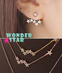 237951 - <JS137-BE07> [Silver Post] wonder star set