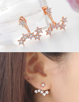 237952 - <ER603-BE07> [Silver Post] wonder star earrings