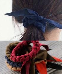 237977 - <HA317-S> [Sold out] [suede Ver. hairband bracelet for both] twist suede ponytail & bracelet