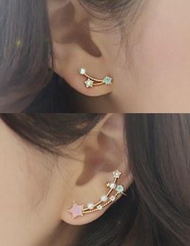 238007 - <EC107-CC06> pastel star ear cuff