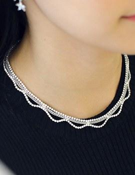 238059 - <NE172-BC08> luxury wave necklace