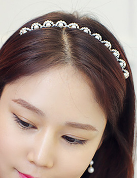 238070 - <HA325-H8> [Immediate out of stock] lace cubic hairband