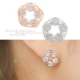 238194 - <ER631-GC01> cubic decoration earrings