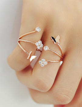 238231 - <RI365-S> butterfly double ring