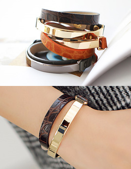 238236 - <BC299-S> [Same day delivery] stream layered leather bracelet