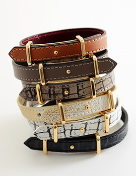 238318 - <BC304-S> Modern Belt leather bracelet