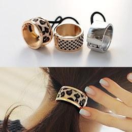 887097 - <HA345-FD00> open ring ponytail