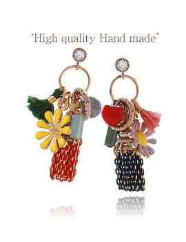888005 - <ER674-DI27> [handmade] [Silver Post] Alicia cute earrings
