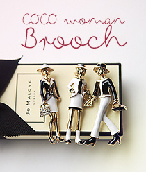 888015 - <FI050-FH06> Coco Woman brooch