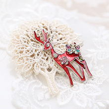14596 - <FI007-FH04> knit tree Bambi brooch