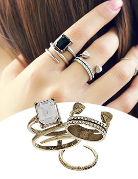 888104 - <RI383-JB22> [3Piece 1set] Appetizer ring