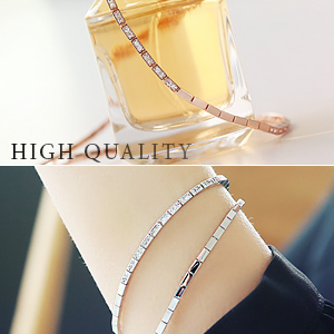 893674 - <BC312-IF03> [high quality] luxury square chain bracelet