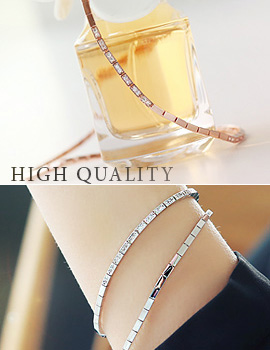 893674 - <BC312-S> [Out of stock] [high quality] luxury square chain bracelet