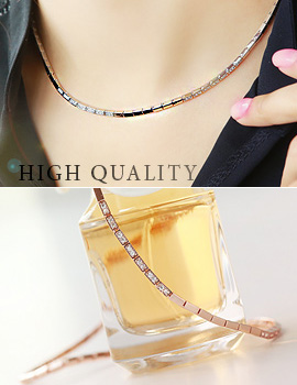 893675 - <NE190-IF03> [high quality] luxury square chain necklace