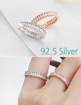 893720 - <RI390-AD02> [Silver] perfect shine ring