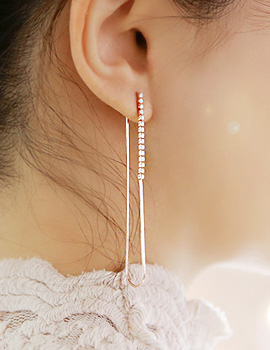 893747 - <ER691-BE07> [Silver] obliviate long earrings