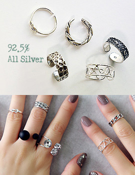 893841 - <RI396-AA03> [Silver] diverse Silver ring