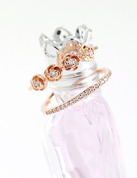 894303 - <RI405-S> [Imminent out of stock] rose 2line ring
