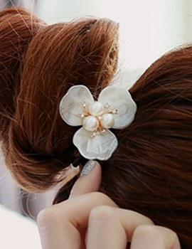 894316 - <HA354-H7> romantic pearl Flower ponytail