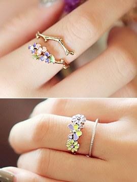 894606 - <RI408-JG19> Shalala Flower ring