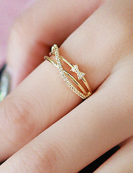 1020144 - <RI412-S> [Imminent out of stock] ribbon wave ring