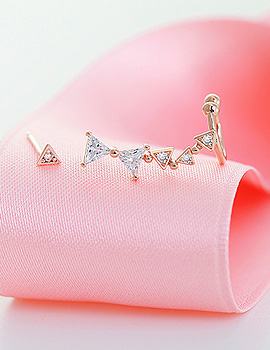 1020387 - <ER711-CB21> [Silver Post] honey ribbon earrings
