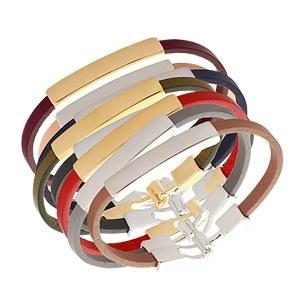 1020460 - <BC326-HE06> stick leather bracelet