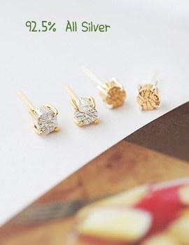1020529 - <ER717-BD06> [Silver] vonin earrings