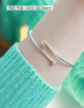 1020910 - <BC330-S> [Immediate out of stock] [Silver] vonin bracelet