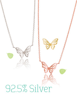 1043305 - <NE204-IF10> [Silver] [Same-Day Shipping] milk butterfly necklace