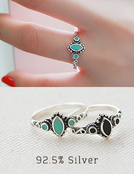 1043318 - <RI429-AG09> [Silver] Bohemian gemstone ring