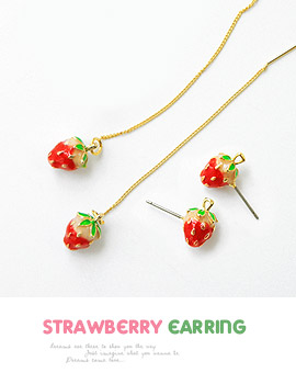 1043336 - <ER733-GG16/17> strawberry earrings