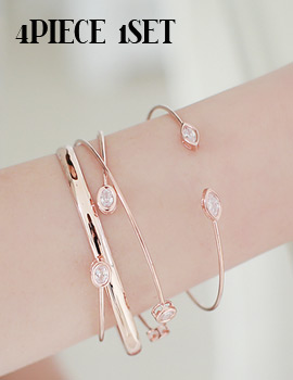 1043339 - <BC342-HH19> [4Piece 1set] haute bangle bracelet