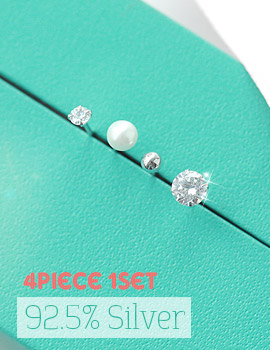 1043346 - <ER736-GF17> [4Piece 1set] [Silver] 4bell Silver earrings