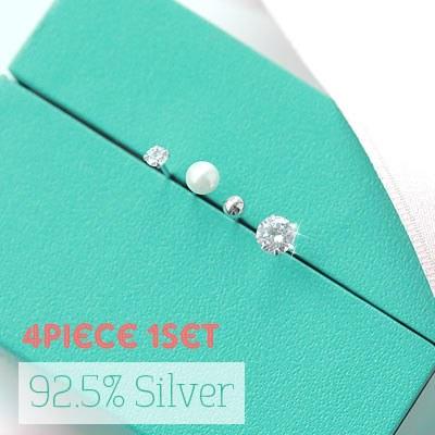 1043346 - <ER736-GF17> [4Piece 1set] [Silver] 4bell Silver earrings