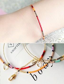 1043354 - <BC344-S> ethnic slim bracelet