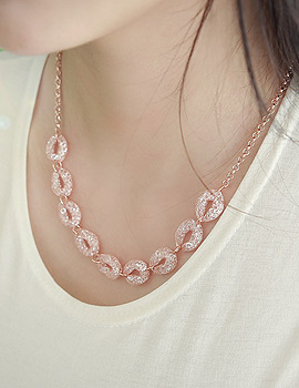 1043381 - <JS157-S> [Same day delivery] mesh tear necklace