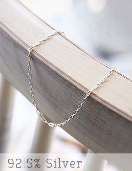 1043398 - <BC360-A> [Silver] square shot chain anklet