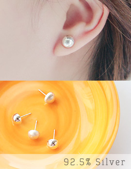 1043425 - <ER751-GE22> [Silver] half circle earrings