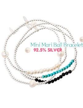 1043448 - <BC375-HC18> [Silver] Mini mari ball bracelet