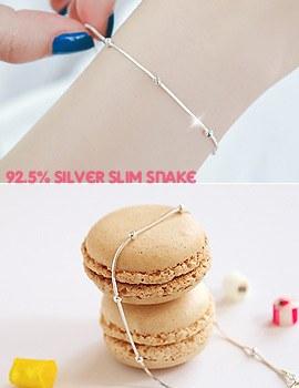 1043449 - <JS160-IF05> [Silver] Milky snake ball bracelet